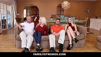 Family Strokes - Horny Girlfriend (SierraNicole) Seduces & Fuck Boyfriends Dad