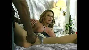 Two black dicks and one white slut in interracial sandwich orgy