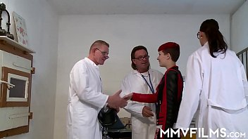 A team of 3 doctors help out a punk teen with her tight pussy problem