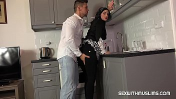 Vinna was surprised by her husband in the kitchen. He licked her pussy so nice and she was blissful. His hard cock slowly penetrated into her juicy cunt and and then he fucked her harder and harder