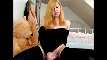 Sexy Ginger Shemale Masturbates Hard To Orgasm