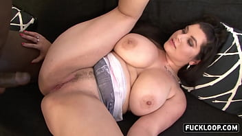 Interracial sex with big boobs girl