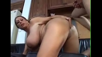 blonde milf with huge tits has sex