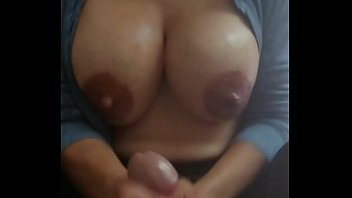 Handjob with oil, lips, boobs and breast milk include for my master Xathaniel