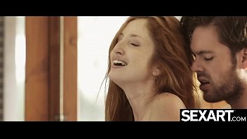 Sexy redhead gets multiple orgasms and a hot creampie filling