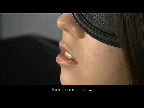 Mini girl blindfolded and fucked in subspace