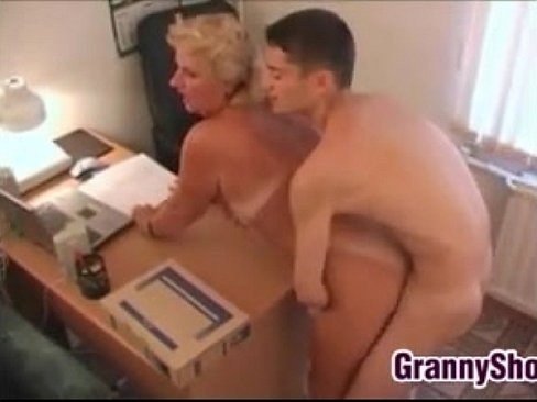 image Sex with old granny gilf and hungry boy