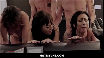 Five Horny MILFs Groupsex With Twins