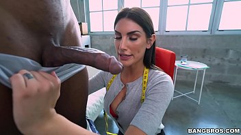 BANGBROS - His Big Black Cock Quickly Catches August Ames's Attention