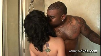 Big Black Stud Inserts Giant Cock Into White Chick Katie St Ives Almost Making H