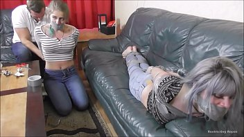Luna and Violet bound and gagged