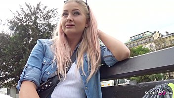 GERMAN SCOUT - CURVY COLLEGE TEEN TALK TO FUCK AT REAL STREET CASTING FOR CASH