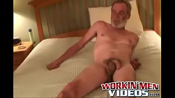 Lusty bloke strokes his pecker and shoves a dildo up his ass 8 min