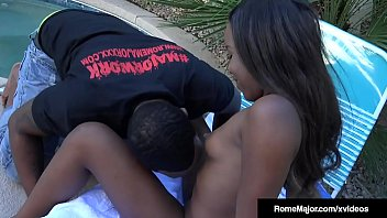 Chocolate Chick Ashley Pink, gets wrecked by Black Bull Rome Major, who stuffs her brown box in this Ebony porn fuck clip! Full Video & Watch Rome Fuck Chicks Live @ RomeMajor.com!