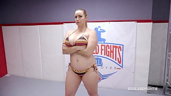 Busty Bella Rossi battles Thor in nude wrestling sex for fucking supremacy