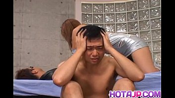 Aya Fujii hot Asian milf in glasses gets pussy poked and gives blowjob 10 min