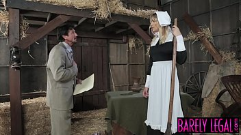 Amish babe Blair Williams saves the heritage with her pussy