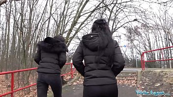 Public Agent Hot sisters found on the path for sex encounters