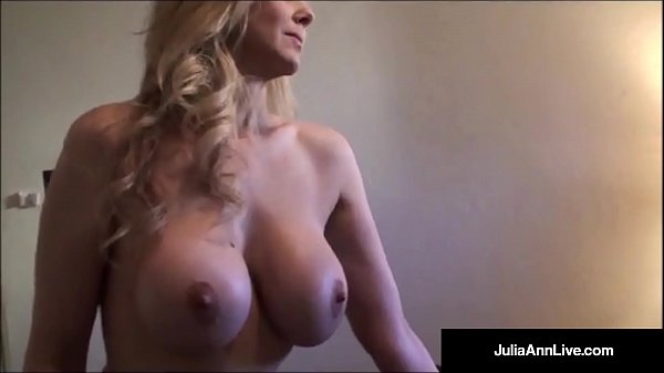 Busty milf in lingerie video Julia Ann The Hottest Sexiest Milf Ever Tries On Sheer Pantyhose Skimpy Panties Busty Bras Just Hot Lingerie She Strips For Fans Until Butt Naked Full Video Live At Juliaannlive Com