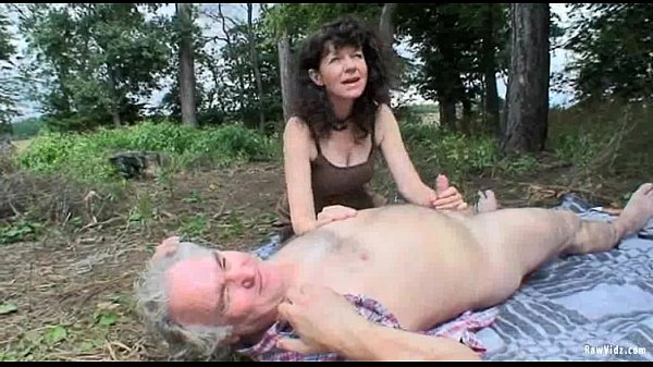old couple outdoor sex