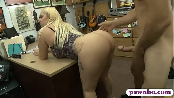 Big Ass And Big Tits Woman Pussy Banged At The Pawnshop -8727