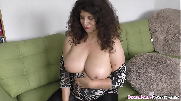 Mature with huge natural tits Brunette Mature Woman With Huge Natural Boobs Shows Them Off By Oiling Them Nicely In Front Of The Camera Xnxx Com