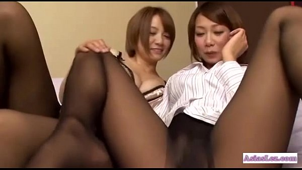 Pantyhose rubbing women