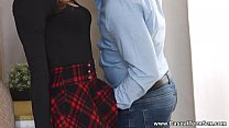 Casual Teen Sex - This redhead slut takes her c...