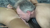 Teen sexy girl gets some sweet old man big dick...