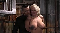 Huge tits blonde MILF wife London River with he...