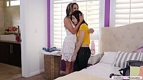 Petite teen is packing her things because shes ...