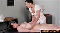 busty bride cancels wedding and gets massage