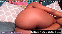 Best Petite Cute Black Cosplay Web Cam Model Msnovember Spreading Her Coochie Vagina And Thick Thighs Apart Pulling Her Black Thong Out Of Her Ass While Shaking Her Huge Hips HD Sheisnovember صورة