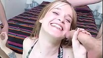 Sweet teen Katia gets completely WRECKED and DP...