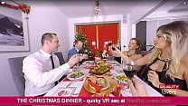 Watch Vittoria Dolce is blowing you under the table during Christmas Dinner in VR preview