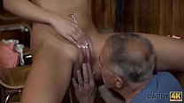 DADDY4K. Old man gets hypnotized by the look of...