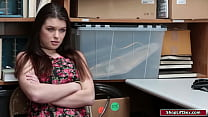 Busty teen is caught stealing so she seduces th...
