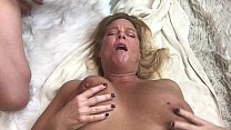 Watch Mature Blonde Gets Cum Shot in her mouth & on her face preview