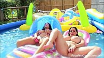 Angelina Castro and Miss Raquel are lounging by the pool in their tiny bikinis, but you know with these two spicy latinas it's going to hot in here really soon. TIME TO MAKE THE PUSSY WET! Thumbnail