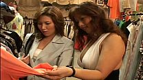 lesbian asian girls kissing in changing room