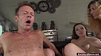 Rocco Siffredi gets his huge cock sucked off by...