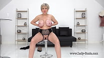 Busty blonde Britsh mature helps you with jerk ...