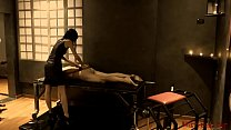 Mistress t. submissive with her paddle in her d...