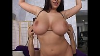 Sexy MILF with great boobs Gianna Michaels puts big cock between her breasts then rides it by her cunt's Thumb