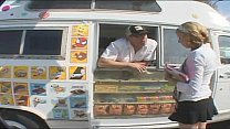 Young Babe Fucked In the Icecream Truck's Thumb