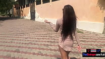 Thai teen girlfriend looks hot in a dress but better with a cock inside her holes