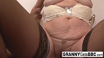 Hot old babe gets BBC