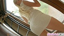 Watch Hot blonde toying her meaty pussy and tight ass preview