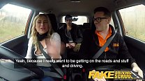 Watch Fake Driving School Car_covered in pussy juice from hot American preview
