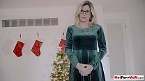 Big boobed stepmother surprising son with a hai...